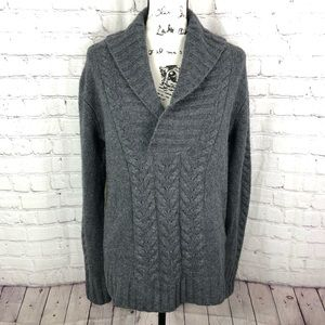 Joie Shawl Collar Cashmere Blend Gray Sweater